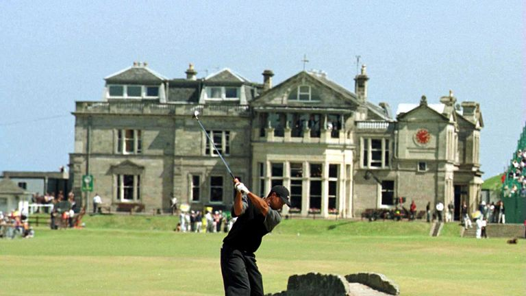 Woods has won the Open Championship three times, twice at St Andrews