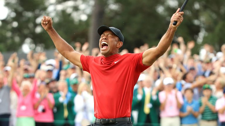 Woods' victory was his first in a major since 2008