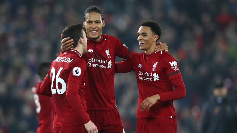 Liverpool's defenders have registered a combined 26 Premier League assists in 2018/19