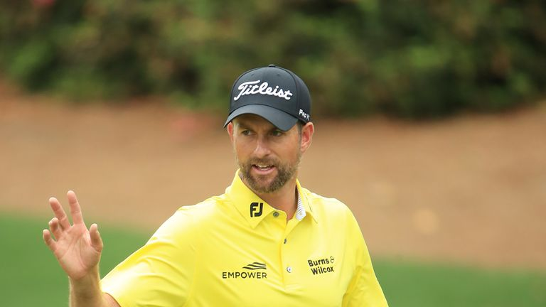 Simpson posted rounds of 64 and 70 over the weekend at Augusta