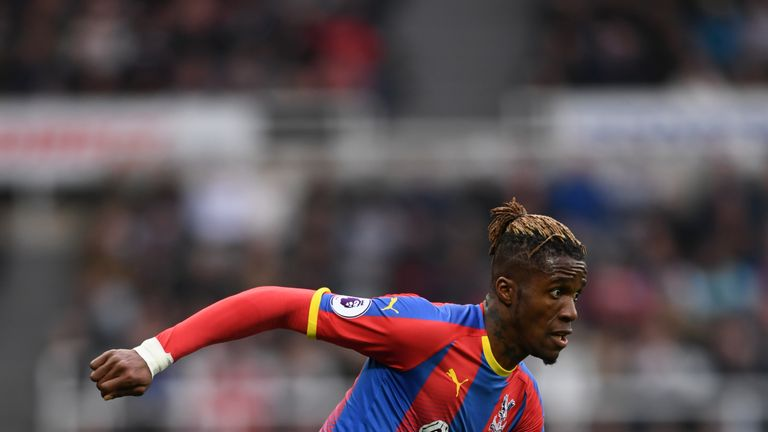 Wilfried Zaha played in Crystal Palace's win over Newcastle on Saturday