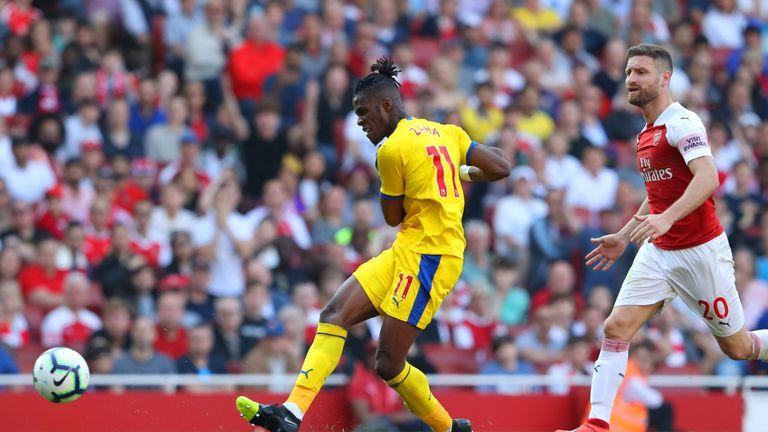 Zaha capitalised on Mustafi's error to score Palace's second goal