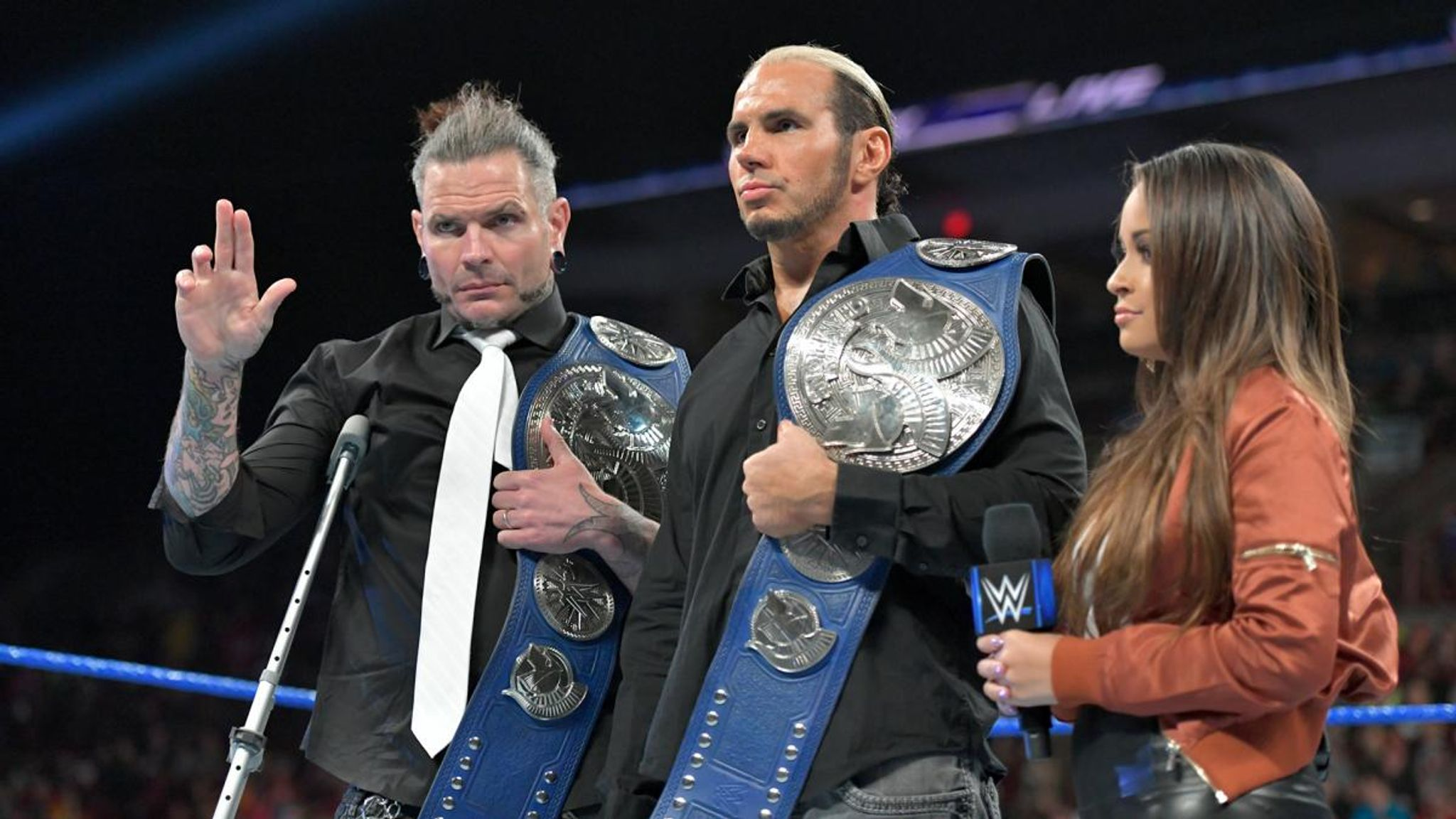 WWE: Hardy Boyz relinquish SmackDown tag-team titles due to injury ...