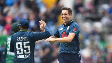 Chris Woakes' five-wicket haul led England to victory