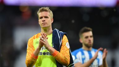 Jonas Lossl is being released by Huddersfield following their relegation