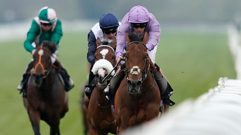 Ben Curtis riding King Ottokar to win at Newbury