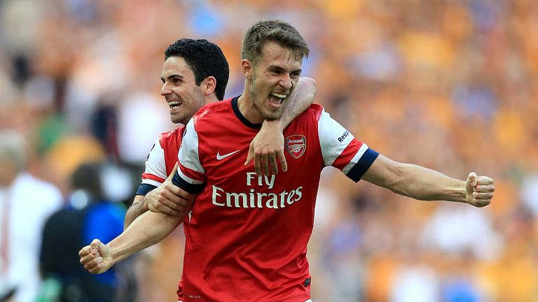 Ramsey spent eight years at Arsenal, winning three FA Cups