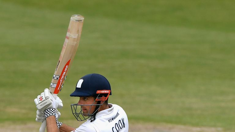 Alastair Cook struck his first competitive ton since retiring from international cricket