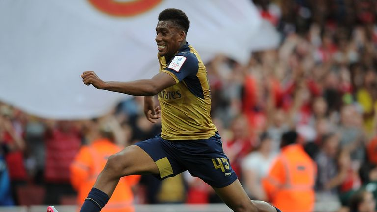 Arsenal academy graduate Iwobi broke into the first team in 2015/16