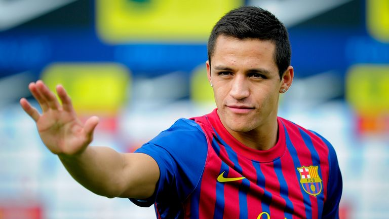 Sanchez joined Barcelona in 2011 before signing for Arsenal three years later