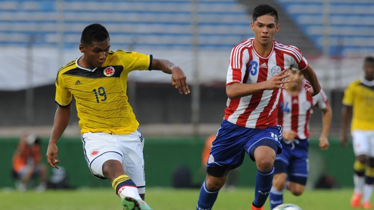 Alfredo Morelos has made two previous appearances for the Colombia national side