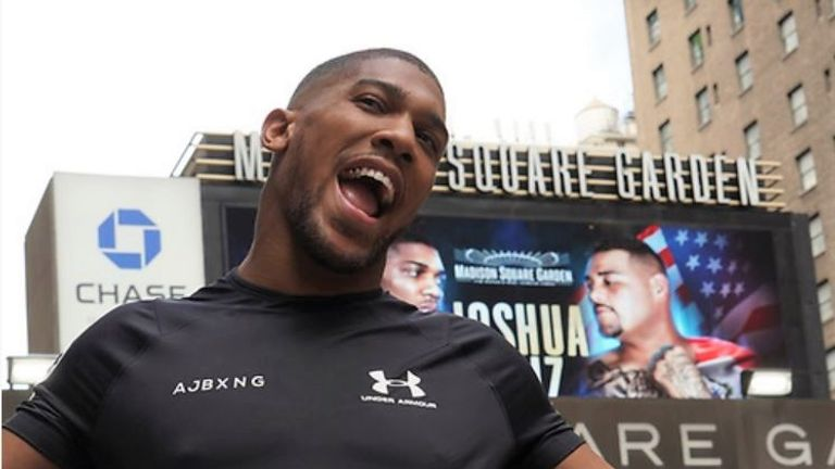 Anthony Joshua makes his US debut at Madison Square Garden