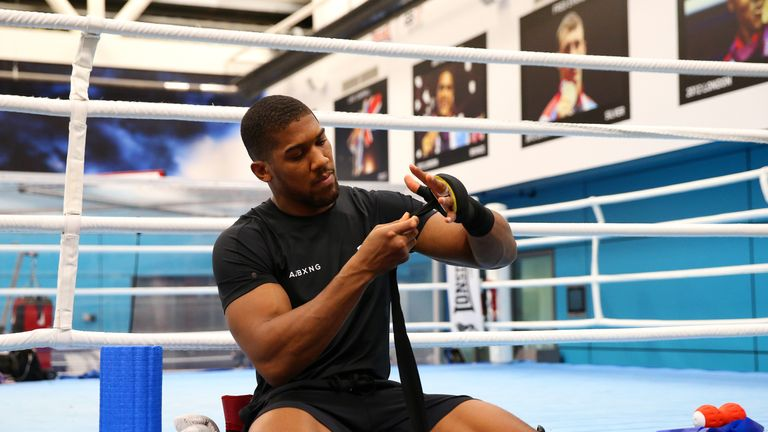 Anthony Joshua sparring 'chubby' fighters in preparation for Andy Ruiz Jr