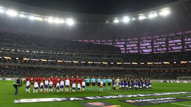 Arsenal travelled to Azerbaijan to face Quarabag FK in the Europa League group stage