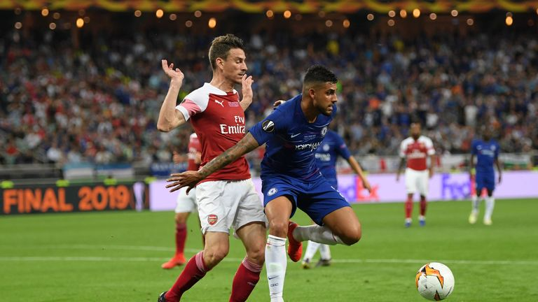 Koscienly's last match for Arsenal was the 4-1 Europa League final defeat to Chelsea