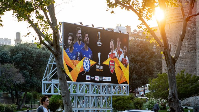 Baku ahead of the Europa League final between Chelsea and Arsenal