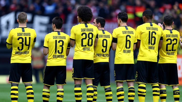 Borussia Dortmund wore their new strip against Fortuna Dusseldorf