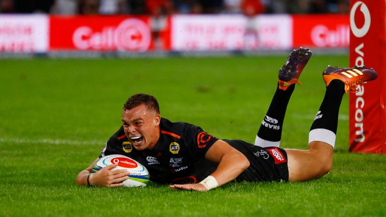 Curwin Bosch was one of three try scorers as the Sharks beat the Lions