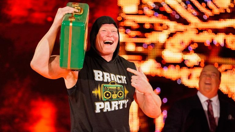 Lesnar's 'boom box antics' with the Money In The Bank briefcase raised a few smiles