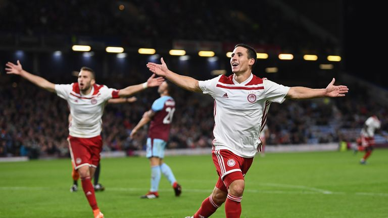 Burnley's Europa League campaign was ended by Greek side Olympiacos in August