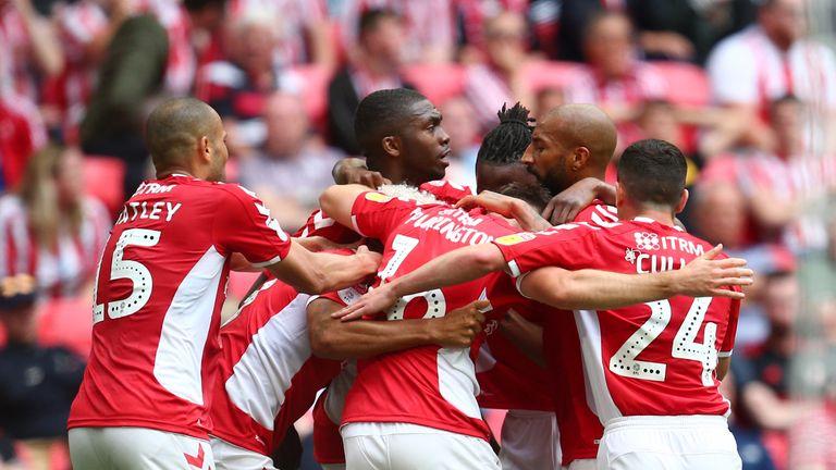 Charlton earned a last-gasp win at Wembley