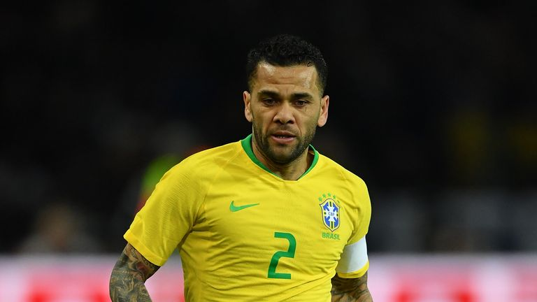 Dani Alves has been named Brazil captain for the Copa America