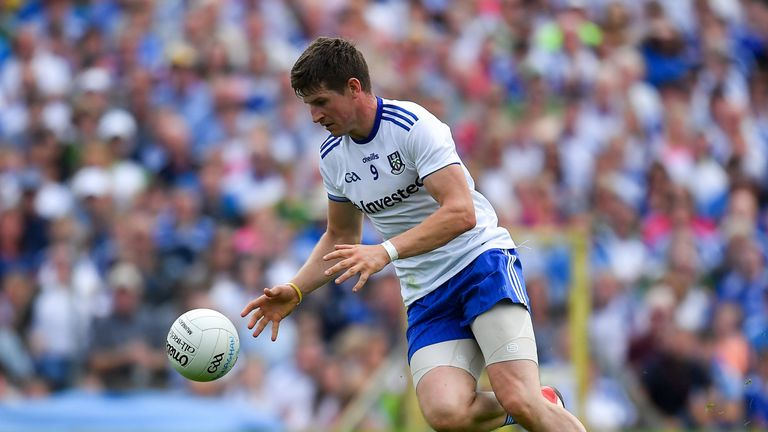 Darren Hughes is missing for Monaghan due to injury