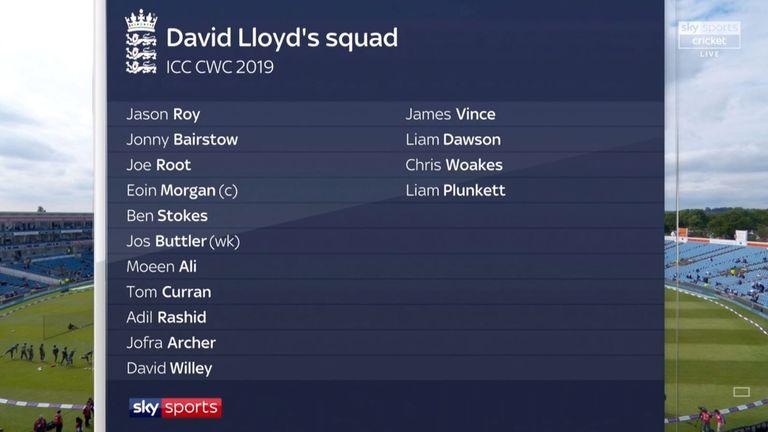 David Lloyd's England World Cup squad