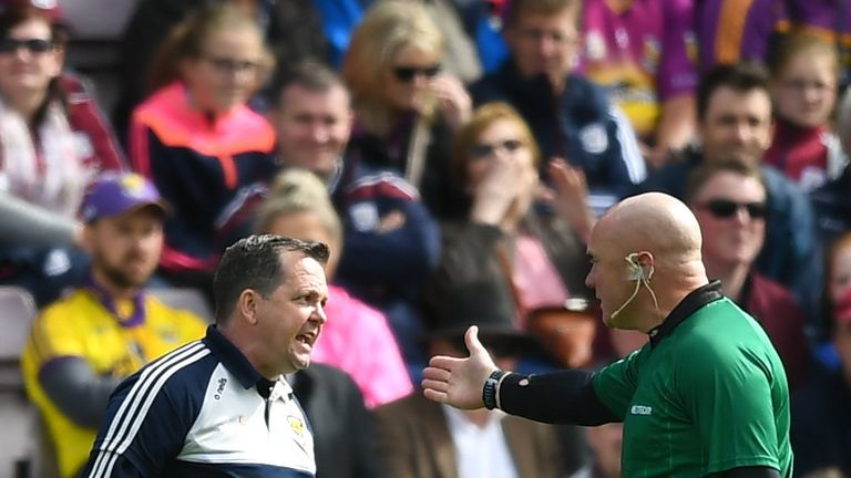 Fitzgerald was given his marching orders on Sunday