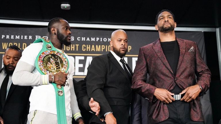 Wilder faces Dominic Breazeale in early hours of Sunday, live on Sky Sports