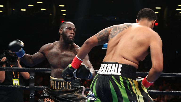 Deontay Wilder is famed for his vicious right hand