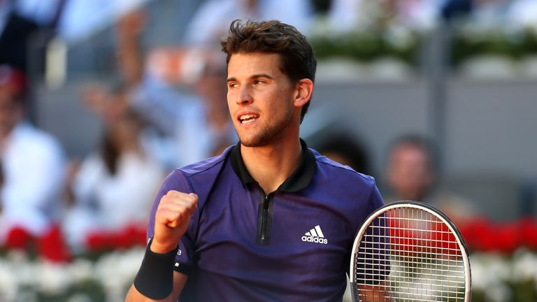 Dominic Thiem defeated Roger Federer to reach the semi-finals in Madrid