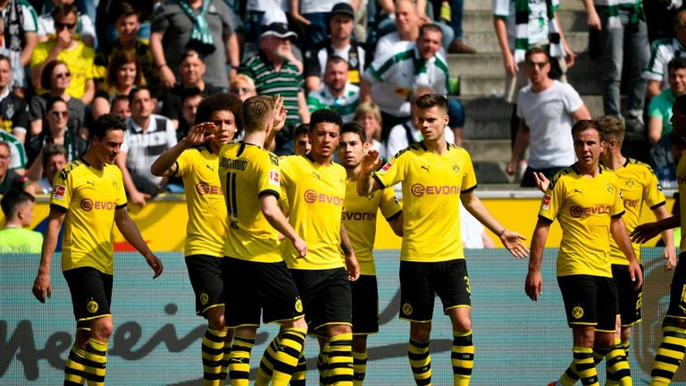 Jadon Sancho gave Dortmund the lead in controversial fashion