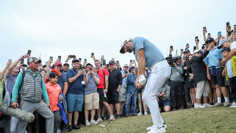 Dustin Johnson had plenty of support at the PGA Championship
