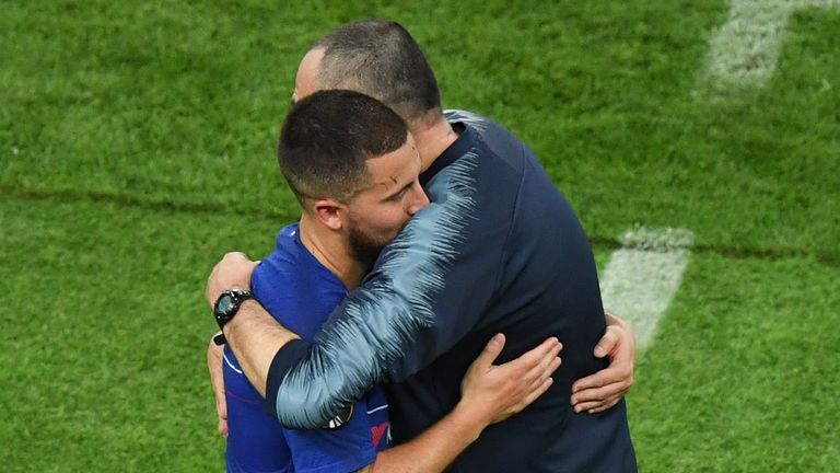 Eden Hazard and Maurizio Sarri both face uncertain futures at Chelsea