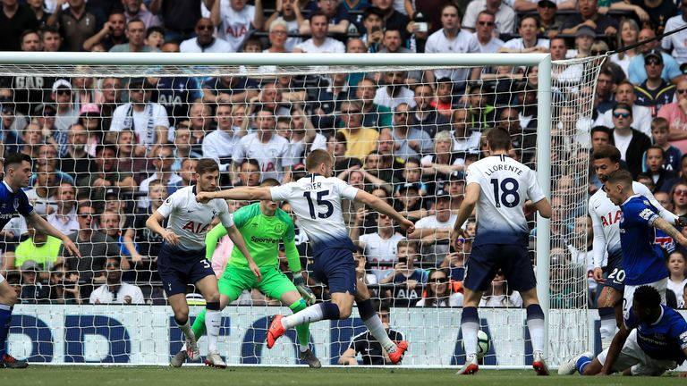 Eric Dier lashes Tottenham in front after just three minutes on Sunday