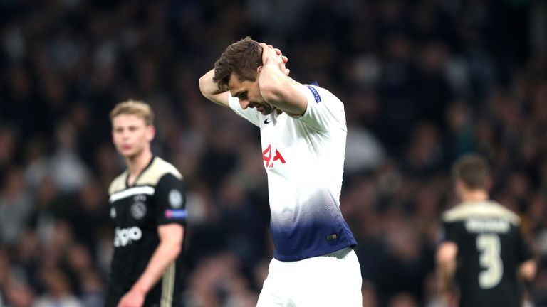 Fernando Llorente was unable to prevent Tottenham's defeat to Ajax