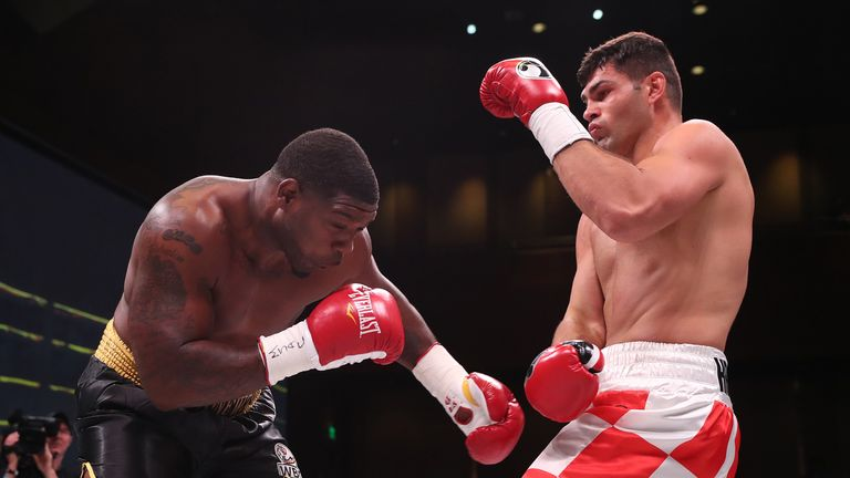 Croatian heavyweight Filip Hrgovic marked his US debut with a first-round KO
