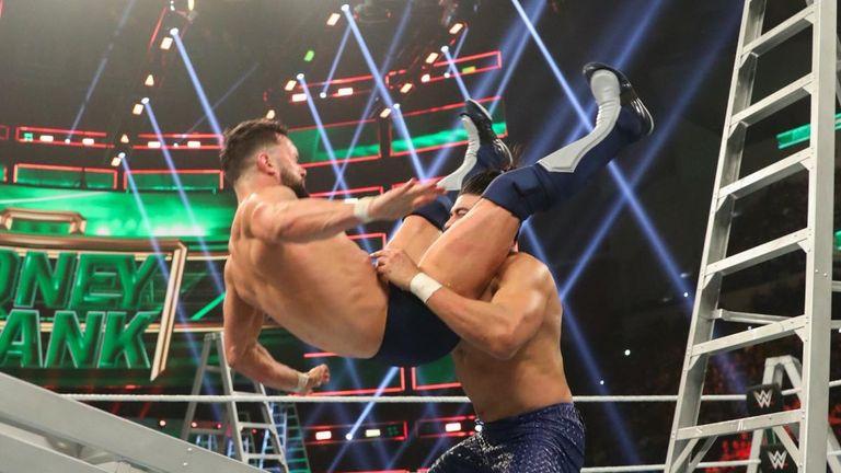 Finn Balor took some horrific-looking bumps in the brutal men's ladder match