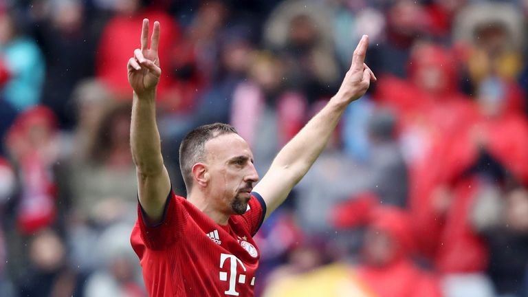 Franck Ribery, now 35, was let go by Bayern Munich in June