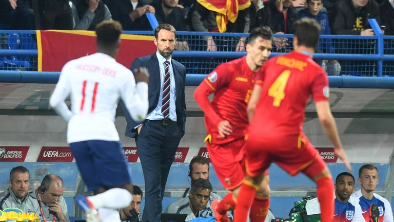 Gareth Southgate's squad were subjected to racist abuse during their European Qualifier win in Montenegro in March