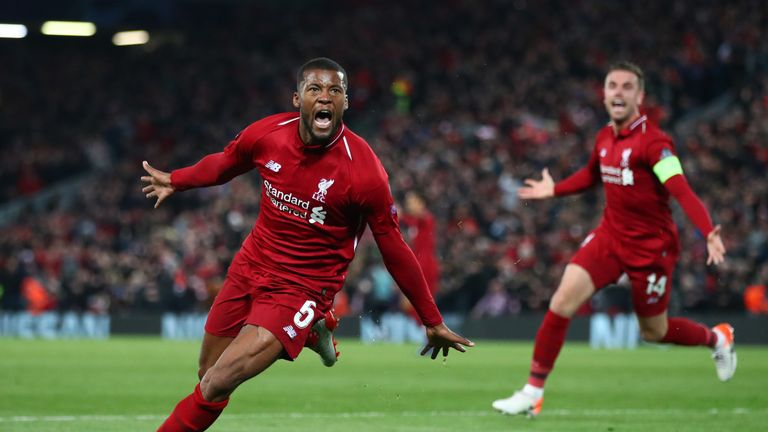 Georginio Wijnaldum scored a double against Barcelona to help Liverpool reach this year's final