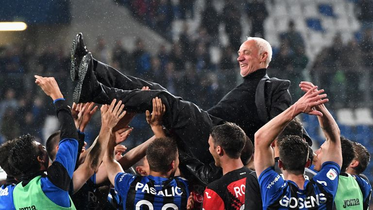 Image result for images of Atalanta qualified for the Champions League