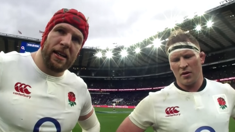 Haskell and Dylan Hartley's conversation with referee Romain Poite against Italy in 2017 was recorded on the ref-cam