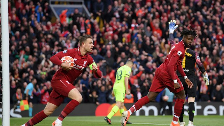 Divock Origi tapped home Liverpool's opener