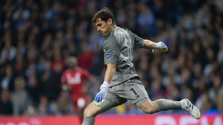 Iker Casillas suffered a heart attack at Porto's training ground on Wednesday morning