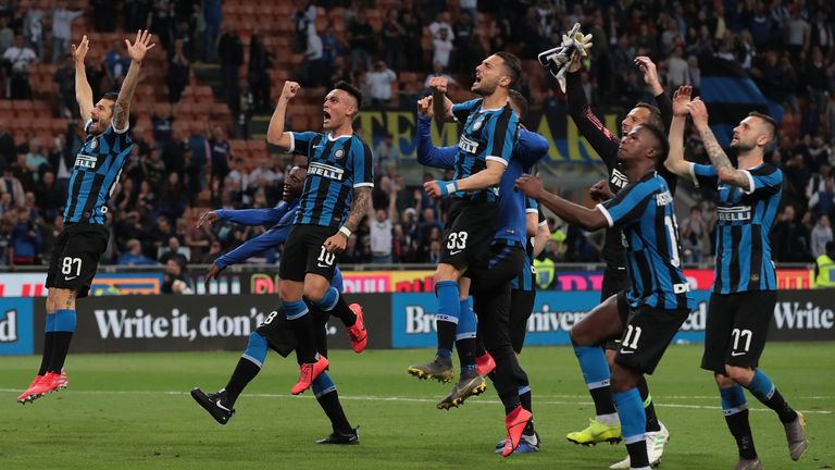 Inter Milan are also in next season's Champions League