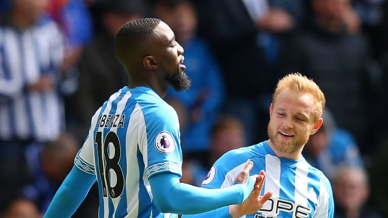 Isaac Mbenza's goal in their draw with Manchester United took Huddersfield onto 15 points last weekend