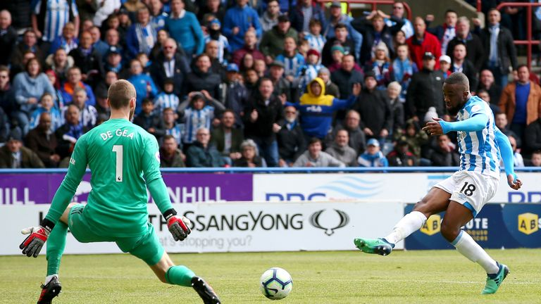 Isaac Mbenza's goal was his first for Huddersfield, and just their 10th at home all season