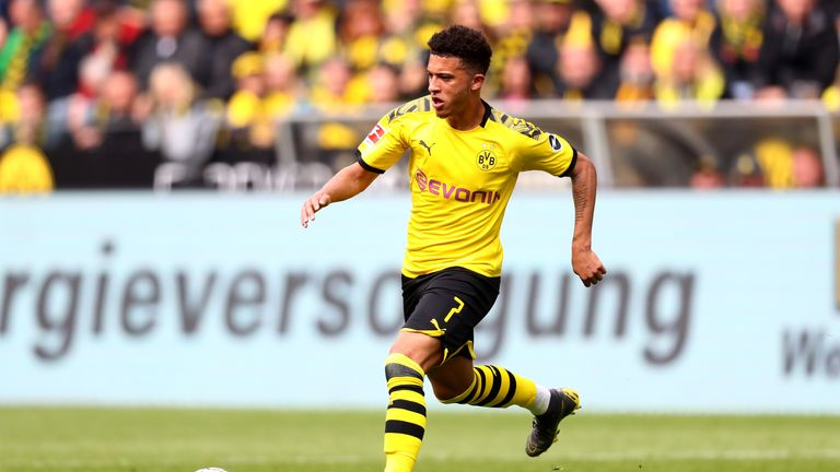 Jadon Sancho models Borussia Dortmund's new kit